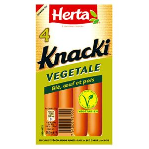 HERTA® - KNACKI® VÉGÉTALE X4 100000 1