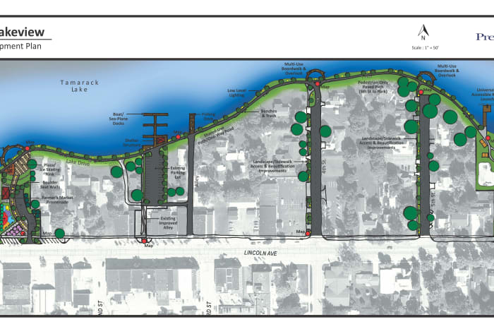 Lakeview Michigan Map.Embracing The Lake Connecting Downtown With The Lakefront Official