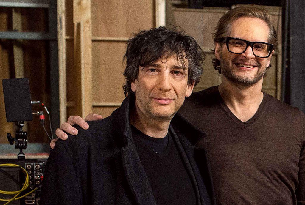 Neil Gaiman am Set von American Gods