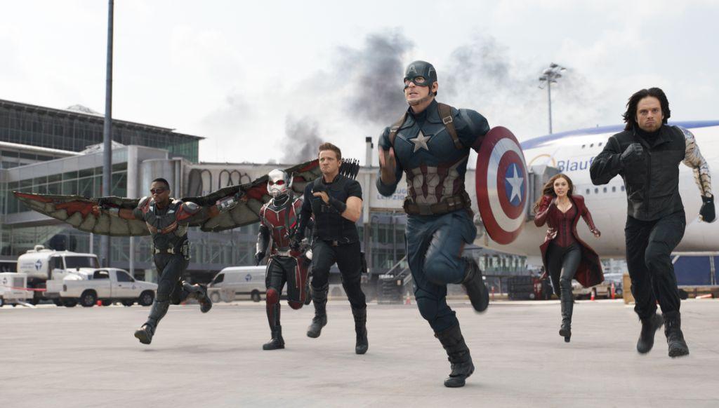 Captain America und Team