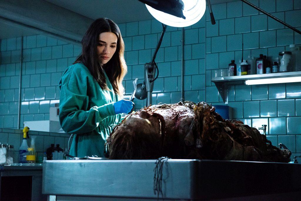 Swamp Thing Abby untersucht Leiche