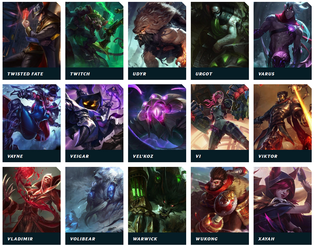 Aktuell gibt es ca. 150 Champions in League of Legends.