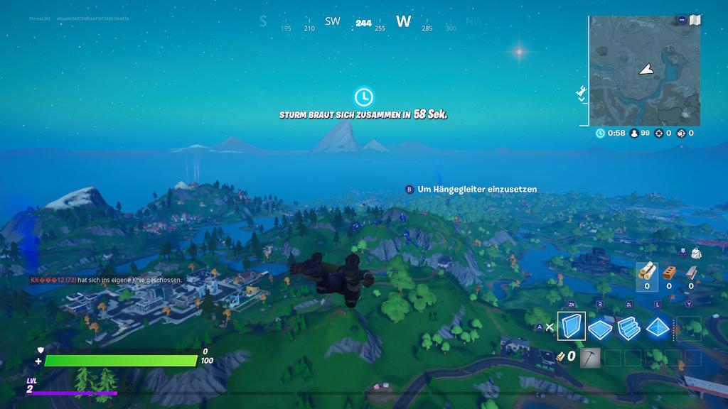 Landung auf der Fortnite-Insel