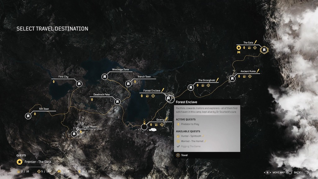 Outriders Map @Square Enix