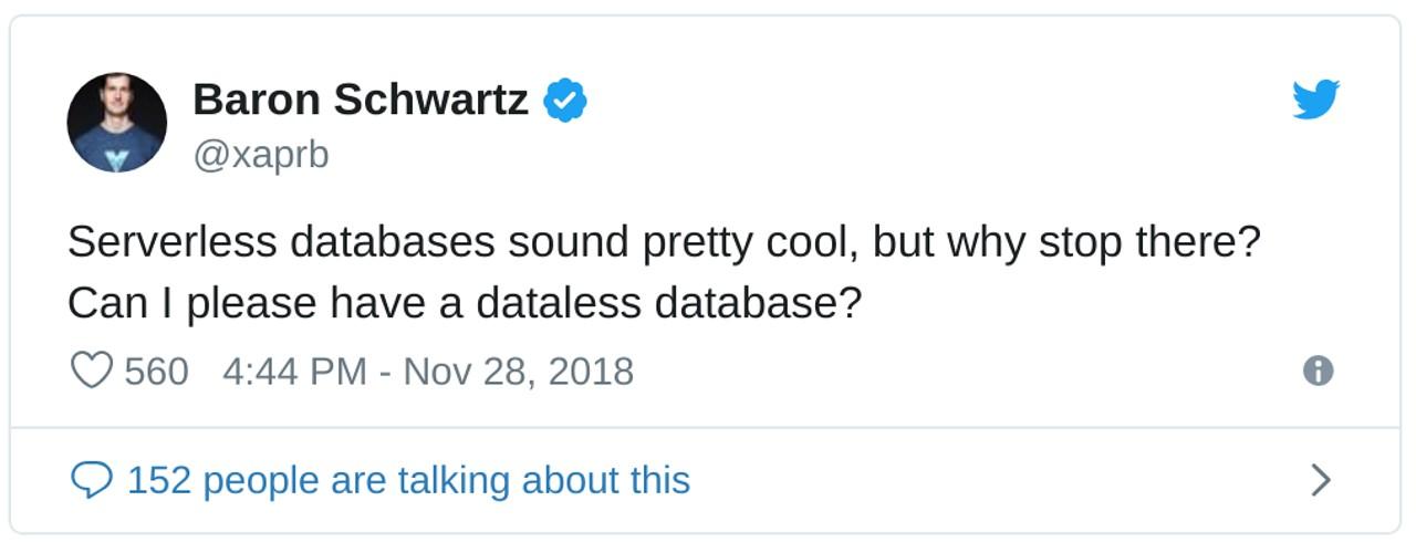 Baron Schwartz on Twitter