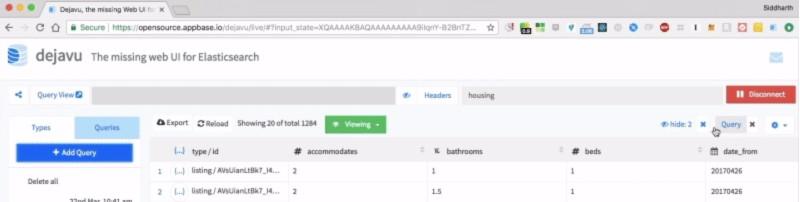 The Dejavu Elasticsearch Web UI