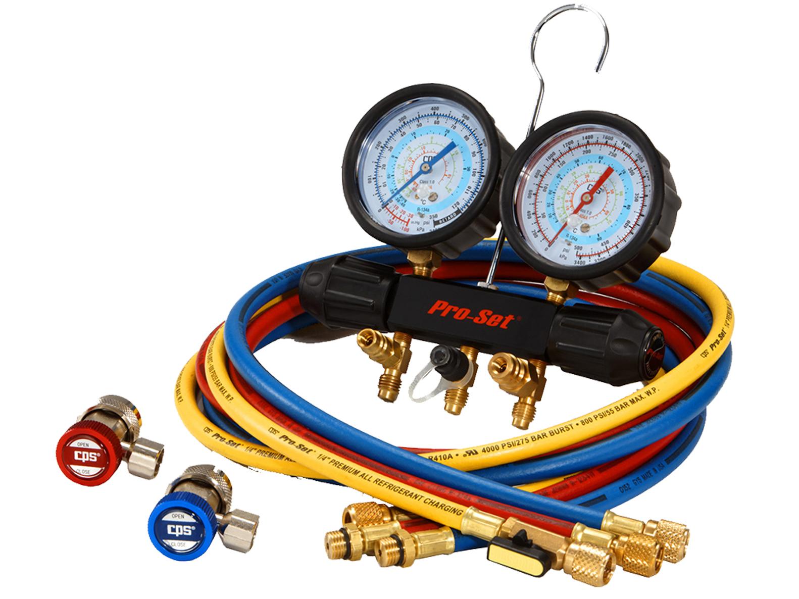 CPS Products MT7I7A6Q A//C Manifold Gauge Set