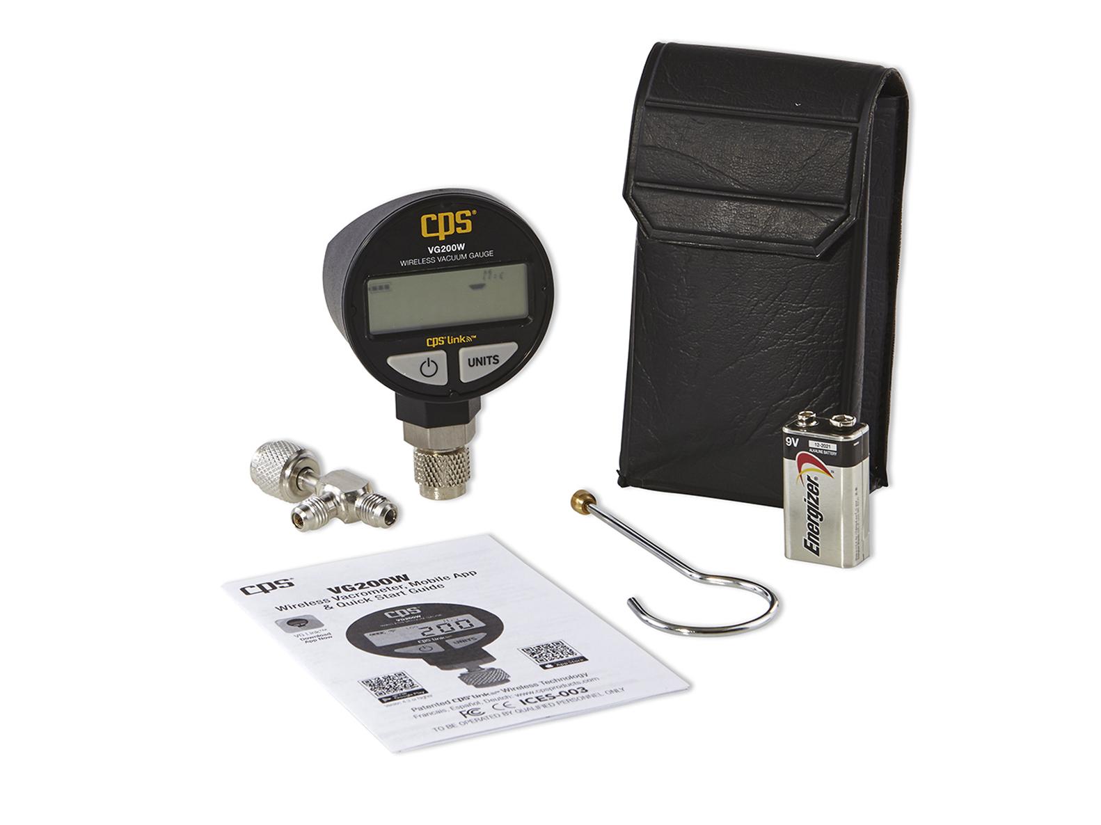 Where do you hook up a vacuum gauge