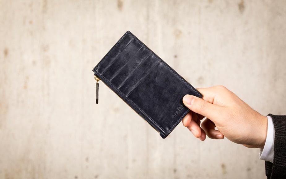 キャッシュレス財布 ブライドルレザー 8ポケットフラグメントケース
