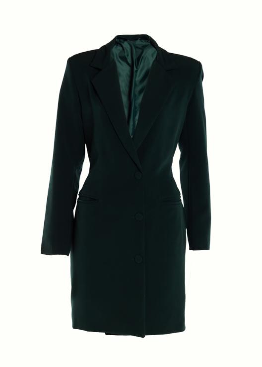 Blazer jurk lange mouwen groen