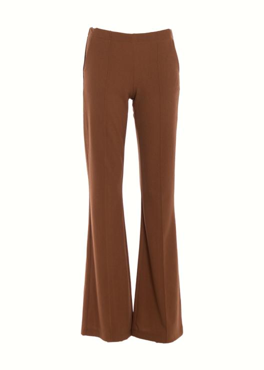 Flared broek bruin