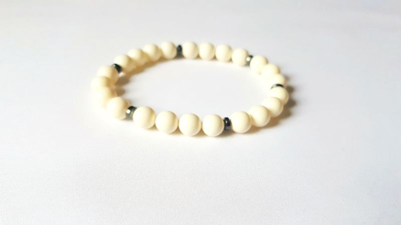 Swarovski Crystal Pearls White Bracelet For Him