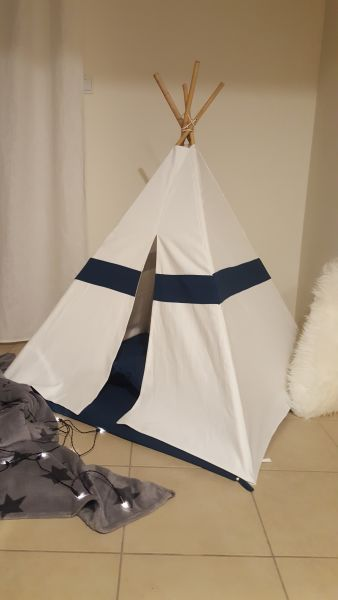 Teepee Tent - Premium Navy/White - custom design