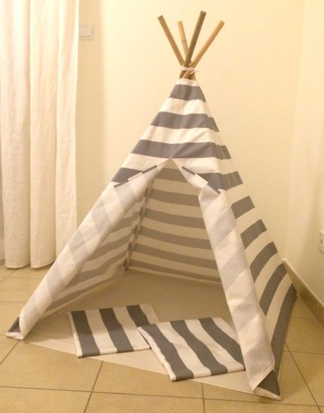 Go to Teepee Tent - Classic Grey-White