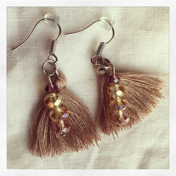 Go to trendy  neutral earrings