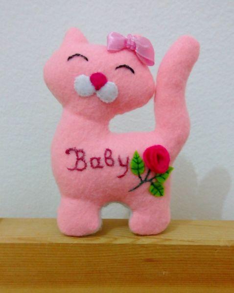 Felt cat Baby Girl Pink