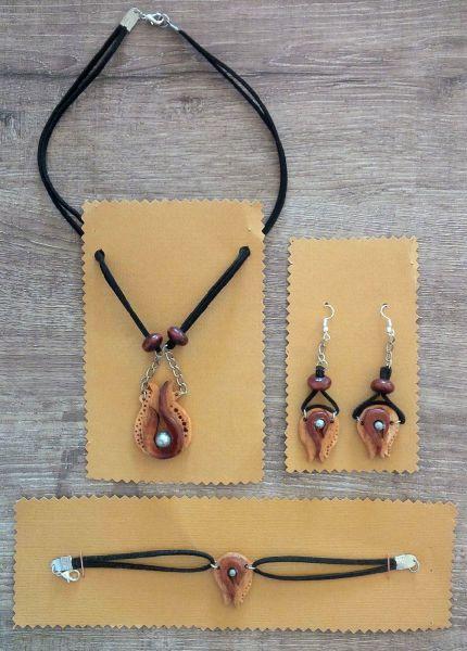 Ottoman tulip jewelry set