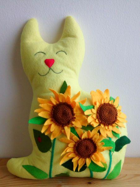 Sunflower Kitty Cushion