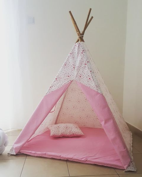 Go to Teepee Tent - Cozy Pink Stars