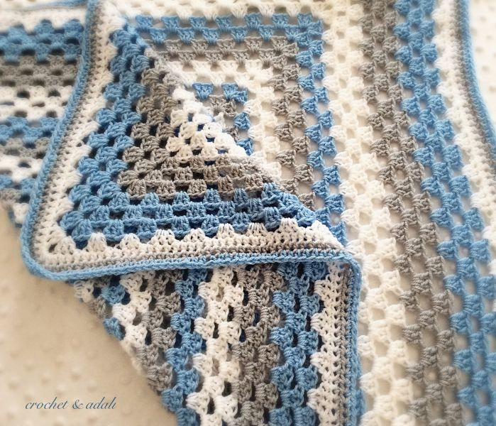"Baby blanket - ""Winter"" (Cotbed size)"