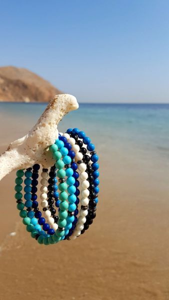 Swarovski Crystal Pearls Sky Blue Bracelet For Him