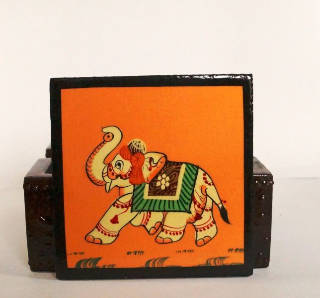 Natkhat Wooden Coaster Set
