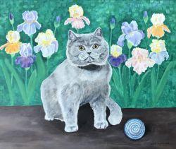 Go to Cat and irises