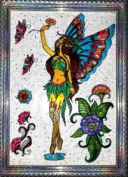Go to Glass paintings - butterfly girl