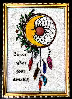 Go to Glass painting Dream catcher