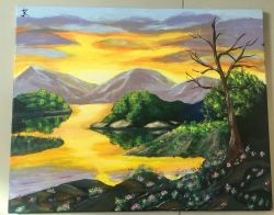Go to Sunset Painting