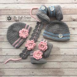 Go to Crochet Twins Baby Set/ Baby Photoprop/ Newborn gift