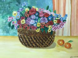 Go to The basket of flowers