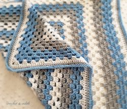 "Go to Baby blanket - ""Winter"" (basket size)"