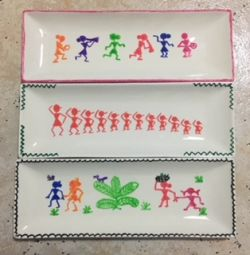 Go to Warli crafted mini ceramic trays