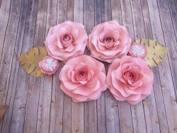 Go to 4 Piece Paper Flower Rose Backdrop