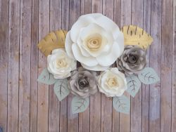 Go to 5 Piece Paper Flowers Rose  Backdrop