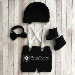 Go to New Born Baby Crochet Set/ Photo prop