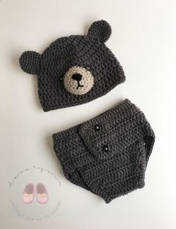 Go to Crochet Bear Outfit - Photo Prop Set