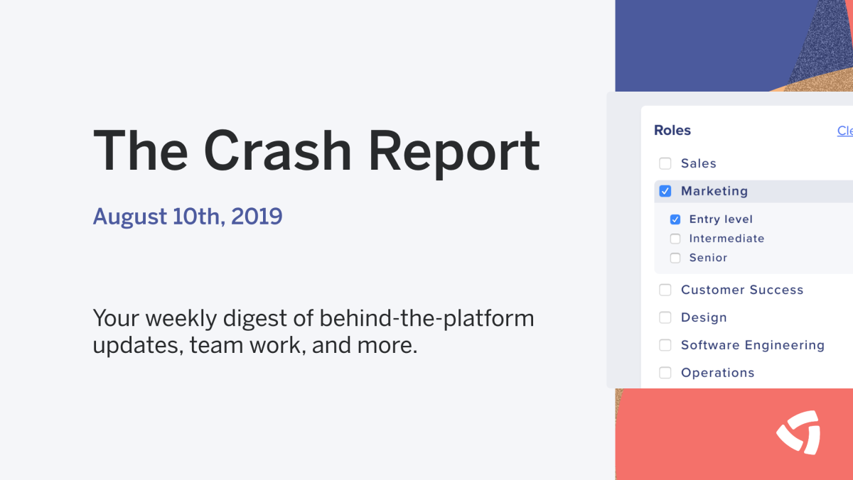 The Crash Report: August 10th, 2019