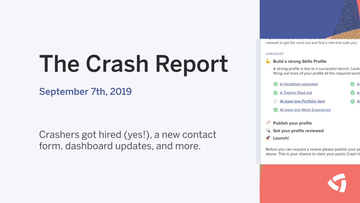 The Crash Report: September 7th, 2019