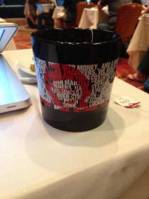 Eliza Brock's MicroConf Coffee Mug