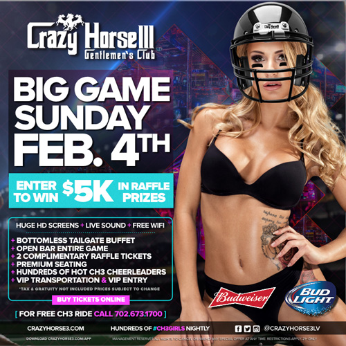 VIP Big Game Sunday<br/>February 4