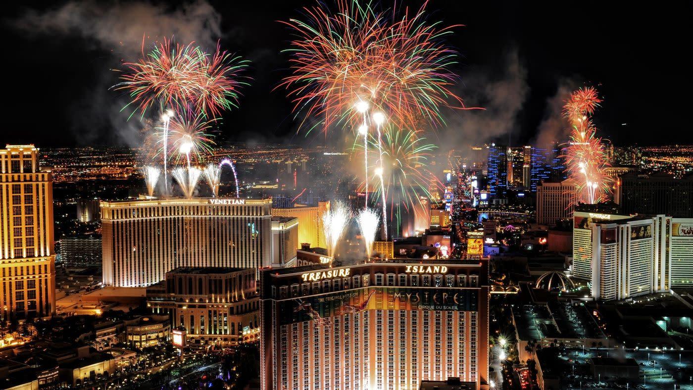 New Years Eve Celebration on Las Vegas Strip