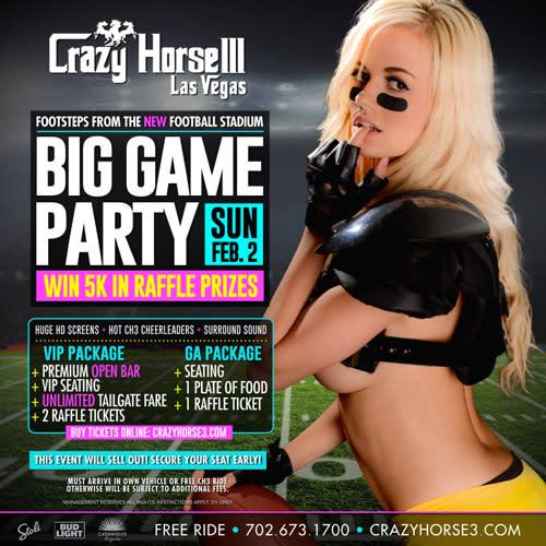 VIP Big Game Sunday<br/>February 2