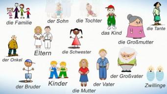 Члены семьи на немецком