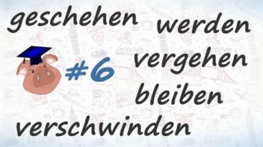 Неправильные глаголы немецкого языка, урок 6.