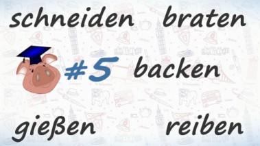 Неправильные глаголы немецкого языка, урок 5.