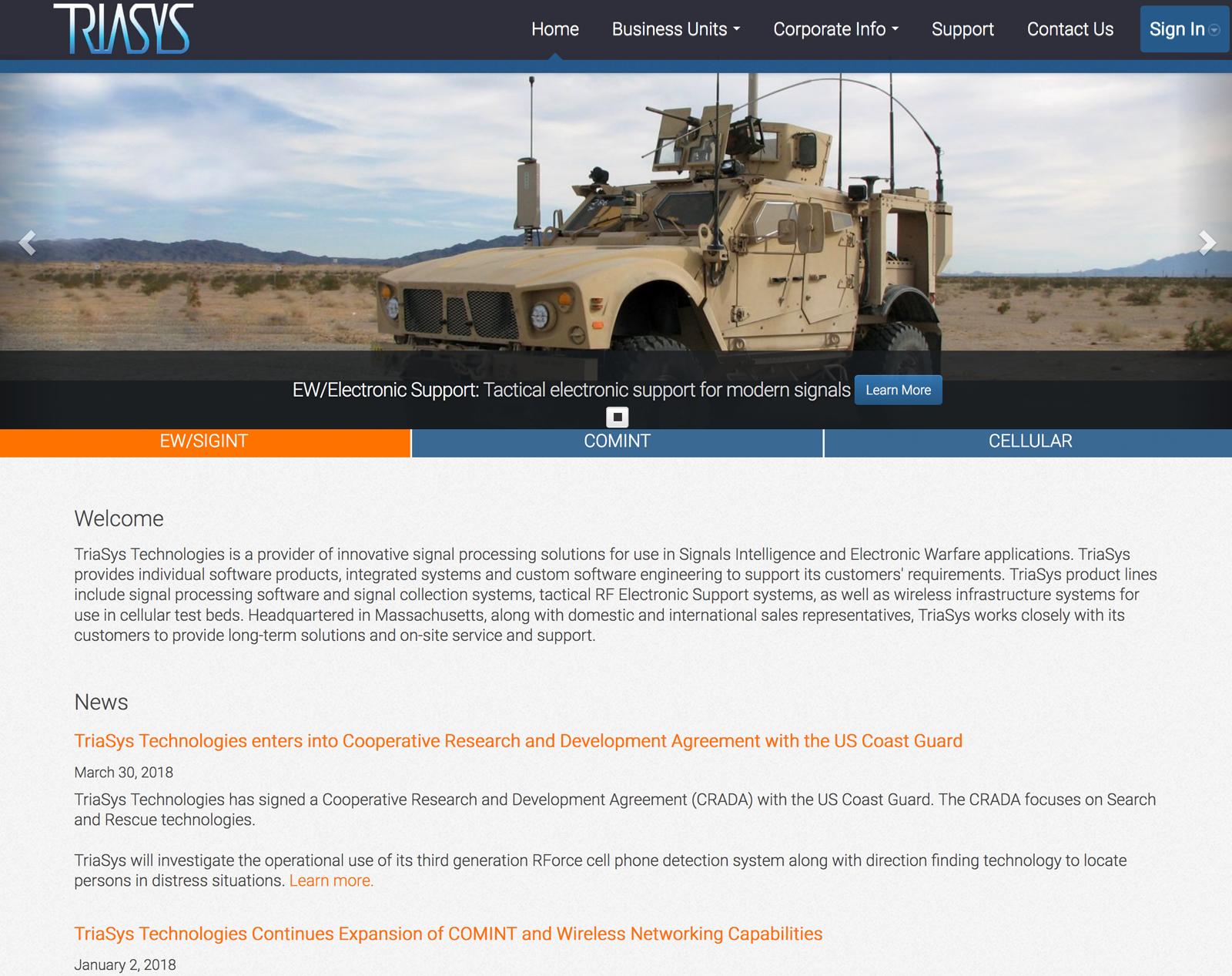 Triasys website