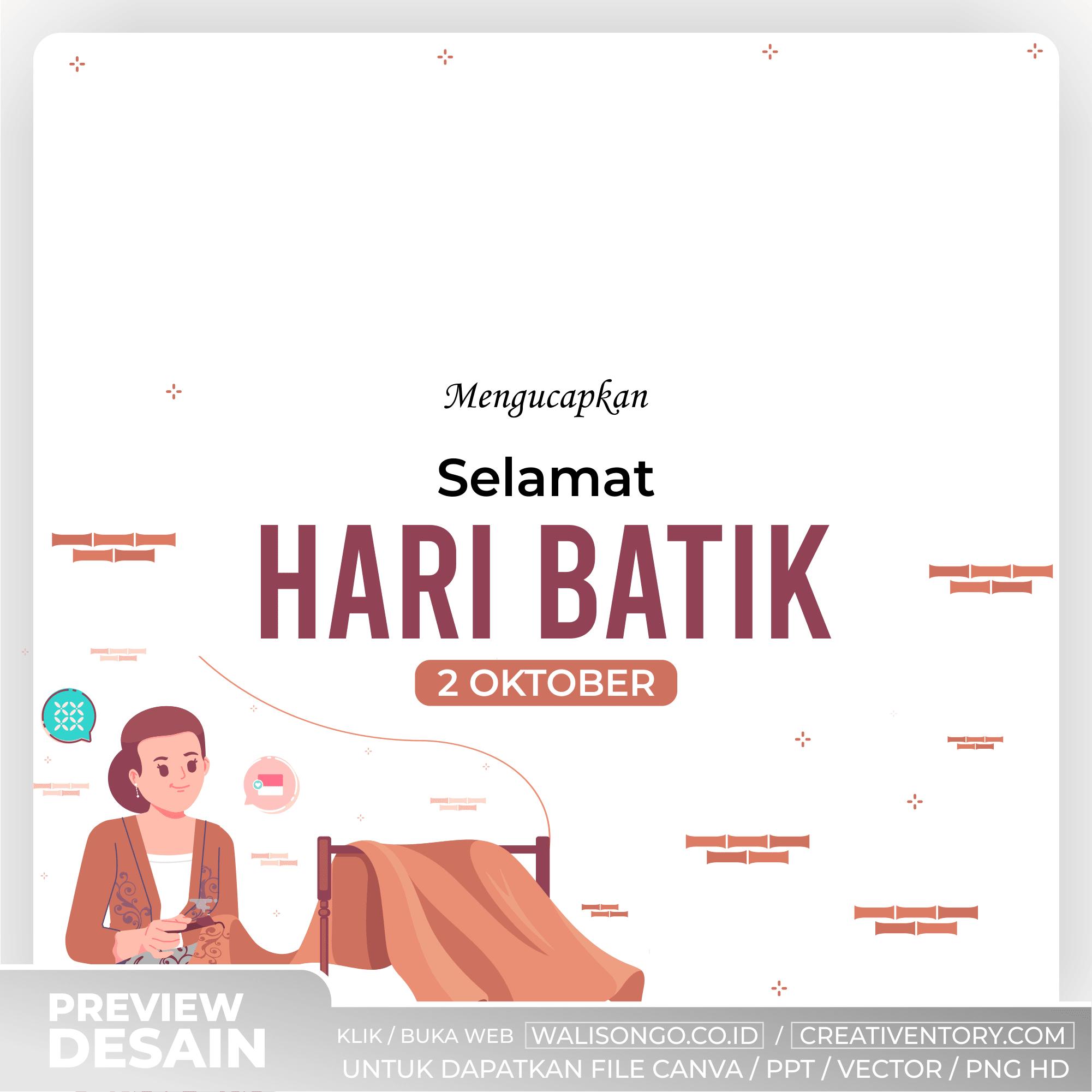 Background Hari Batik Simple