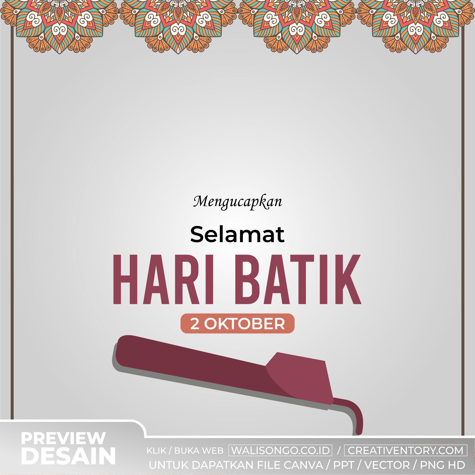 Background Hari Batik Nasional Canting